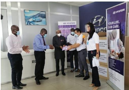 Hyundai Donates COVID-19 PPEs To Korle Bu